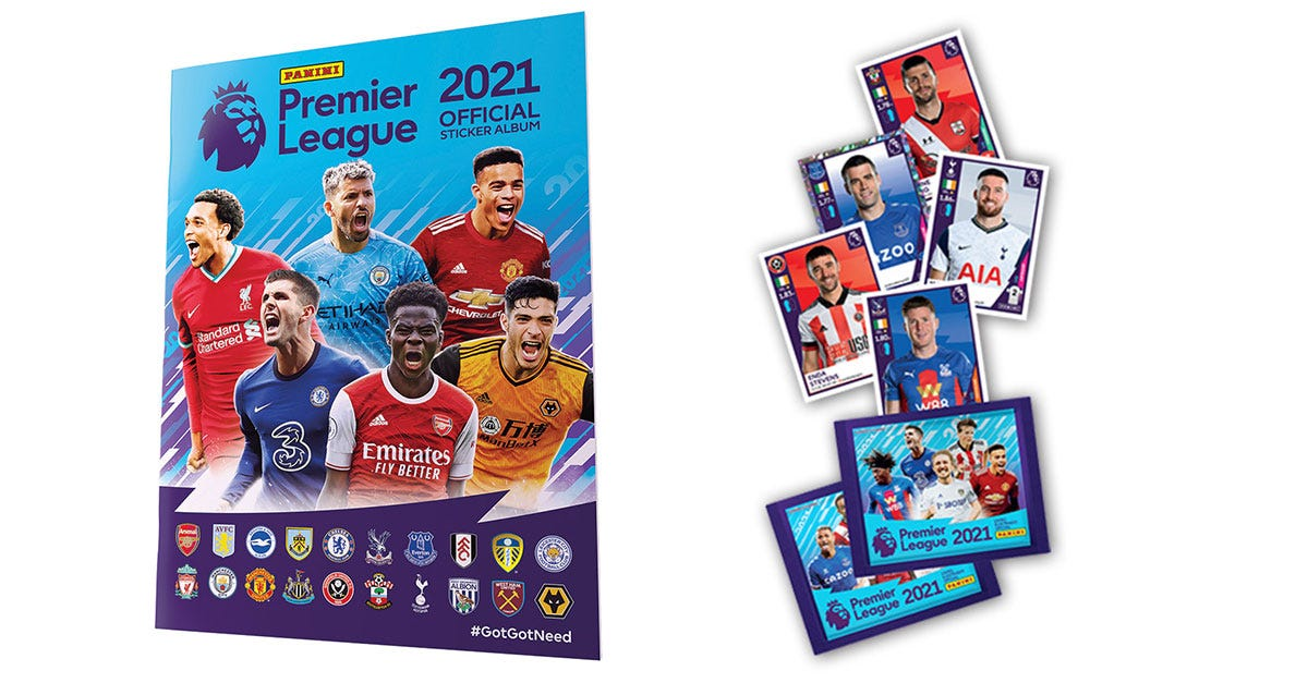 Panini Premier League Official Sticker Collection 2021